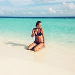 Lara Worthington in the Maldives. Picture: Instagram
