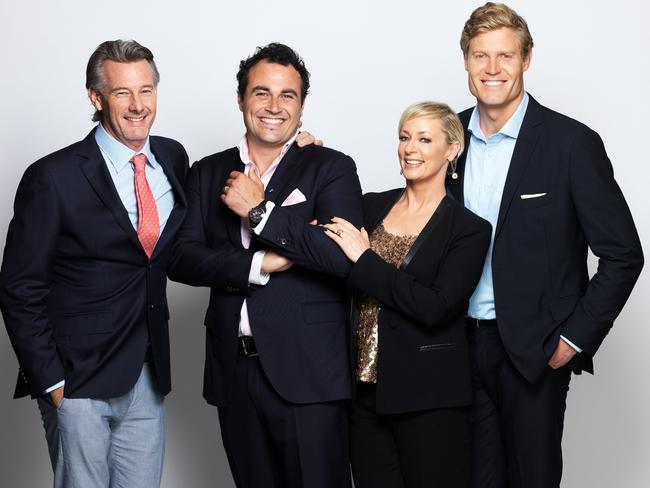 Awesome foursome ... The Living Room co-hosts Barry Du Bois, Miguel Maestre, Amanda Keller and Chris Brown. Picture: Supplied