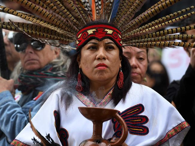 The Keystone XL pipeline decision caps a years-long fight between Native Americans, environmental groups and energy industry advocates over the pipeline's fate. Picture: AFP/Mark Ralston