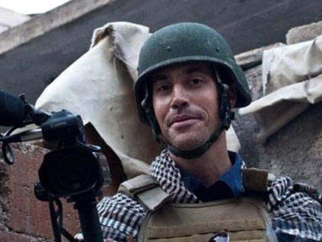 Just doing his job ... US journalist James Foley was abducted in Syria in 2012. Picture: Twitter