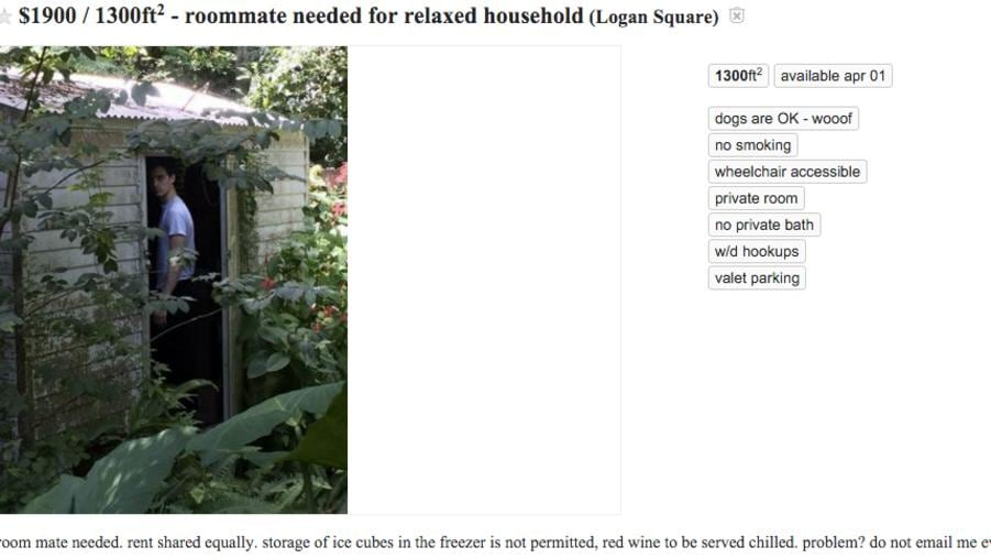 "Craigslist roommate from hell: ""If I nail a rat to your ..."