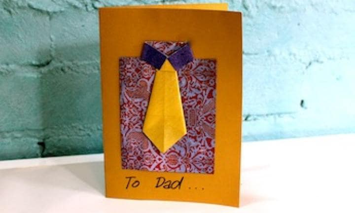 Father's Day: Make a shirt and tie card