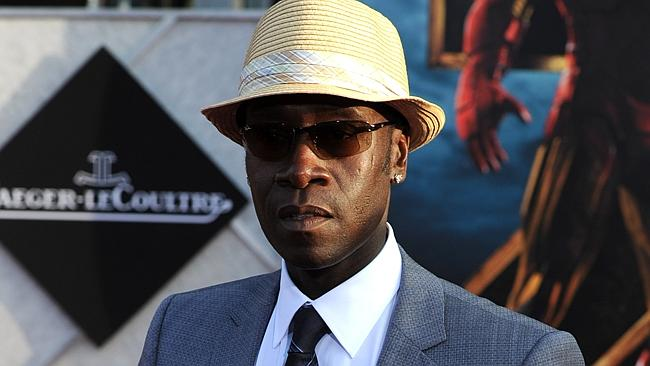 Actor Don Cheadle arrives at the world premiere of Paramount Pictures and Marvel Entertainment's 'Iron Man 2. Picture: Getty Images.