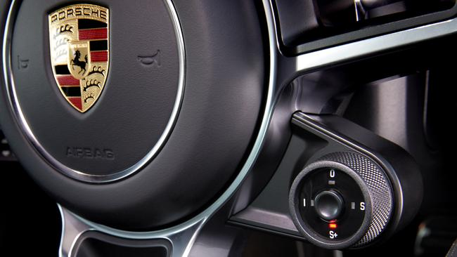 The 'push to pass' response button in the new Porsche 911. Picture: Supplied.