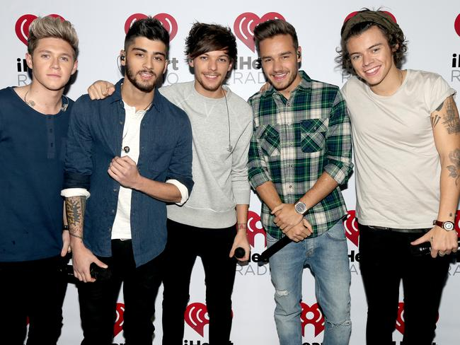 Devoted fans ... One Direction's Niall Horan, Zayn Malik, Louis Tomlinson, Liam Payne, and Harry Styles. Picture: Getty