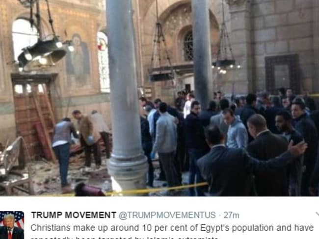 The carnage inside the church after thje first attack. Picture: Twitter