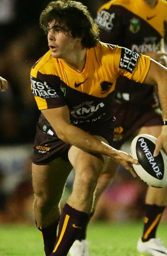 Jake Granville in one of his few chances to get on the park for the Broncos. Picture: Peter Wallis