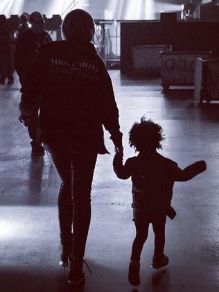 Beyonce and Blue on tour. Picture: Instagram