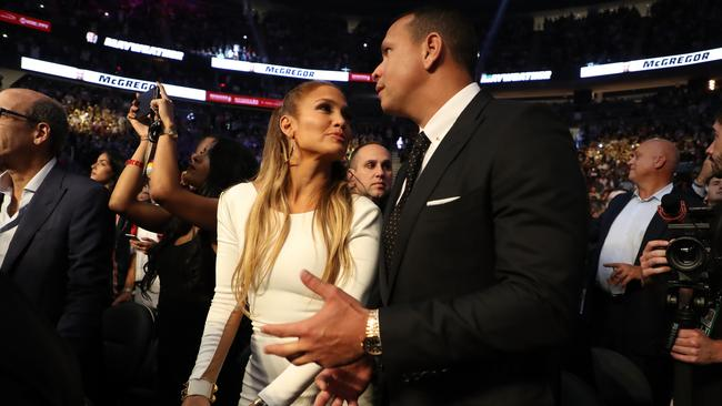 Jennifer Lopez and former MLB player Alex Rodriguez