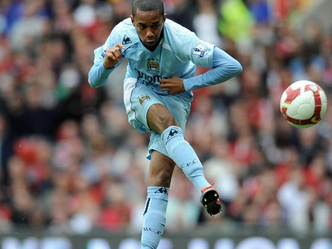 Robinho failed to set the Premier League alight during his time with Manchester City. Picture: AFP