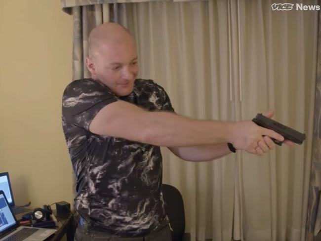 Christopher Cantwell defended the far right in the Vice documentary which has now gone viral. Picture: Screengrab