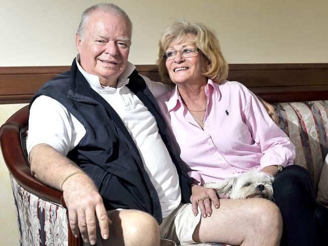 Wayne Wilson, with wife Sally last year, had been battling cancer since 1999. Picture: Brad Cooper