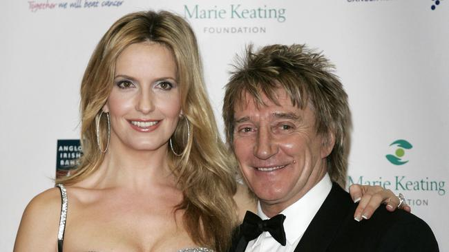 British singer Rod Stewart is 1.78m but loves even taller women, such as wife Penny Lancaster.