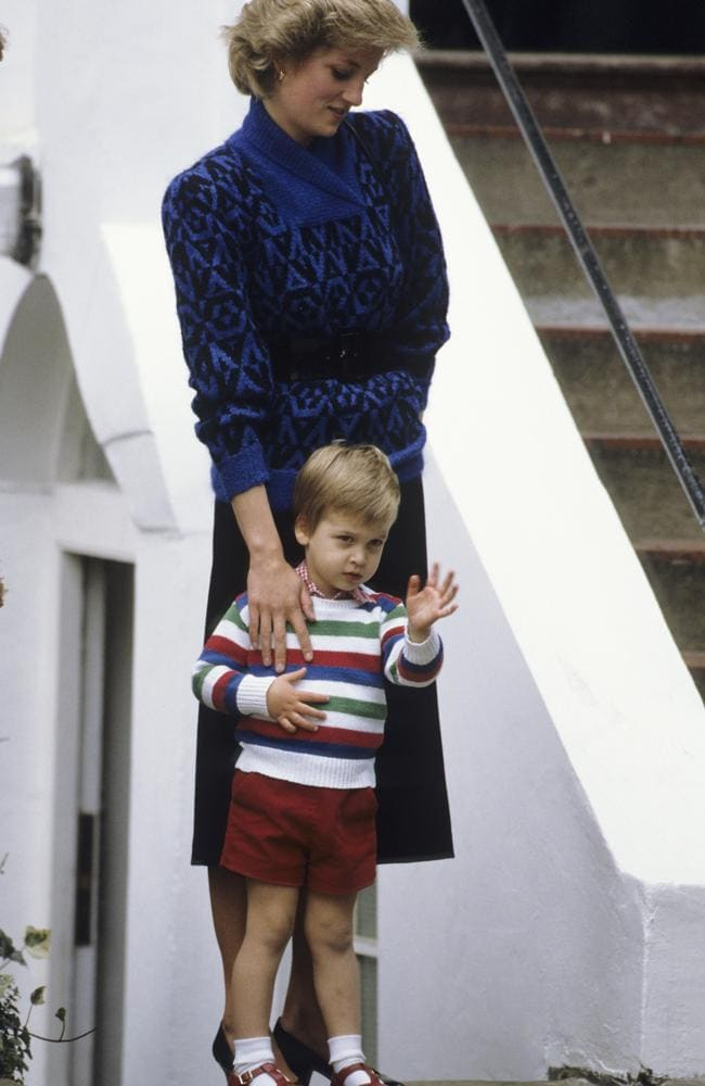 Princess Diana takes Prince William to his first day of preschool in 1985. Picture: Georges De Keerle/Getty Images