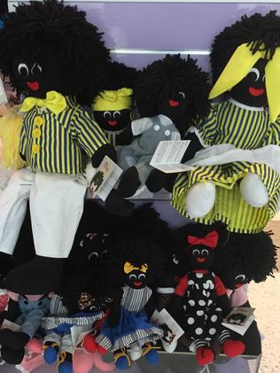 The range of traditional Golliwog dolls for sale.