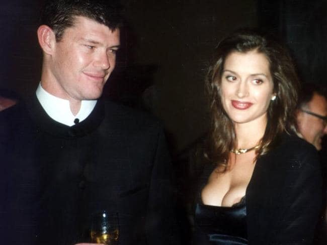 Power couple James Packer and Kate Fischer in 1997.