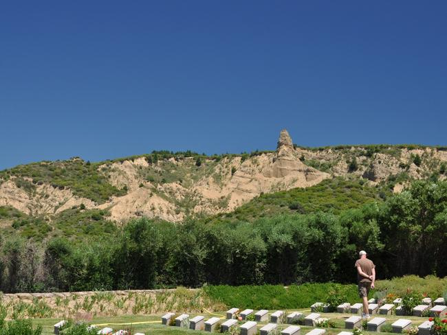 Hallowed ground ... Anzac Cove cemetery on the Gallipoli peninsula in Turkey. Picture: Barry Sawtell