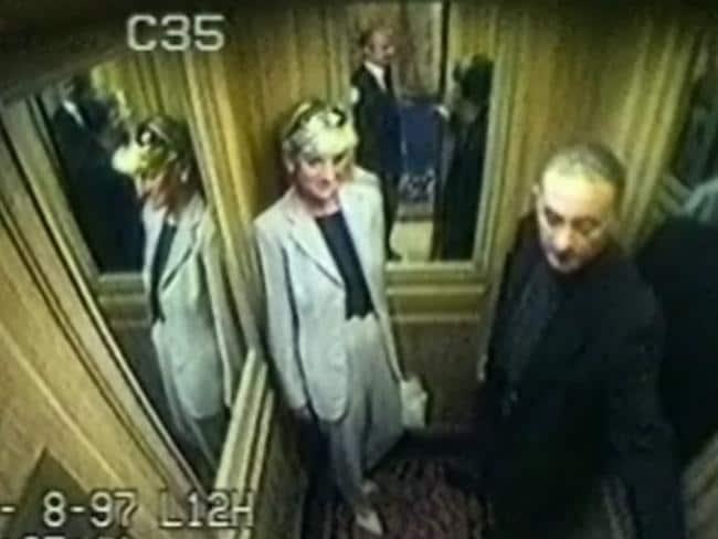CCTV footage of Diana and Dodi Fayed a day before the fatal crash.