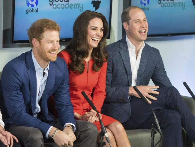 The royal trio are on their mental health campaign blitz this week. Photo: AP