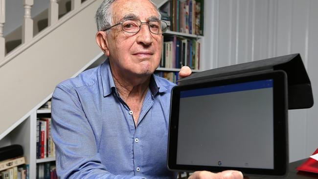 Profesor Alfred Poulos is among the millions of unlucky Aussies who couldn't do their census last night. He feared being fined. Picture: Tim Carrafa