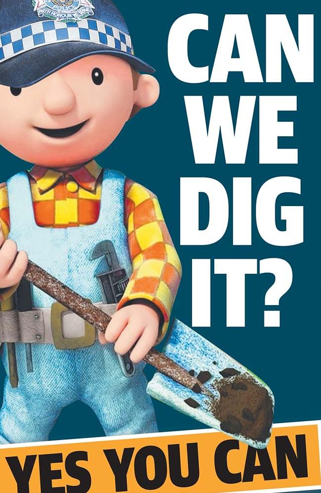 Queensland police have been making like Bob the Builder and his digging mates.