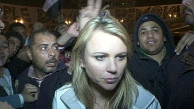 Violent attack ... CBS News correspondent Logan was assaulted in Tahrir Square.