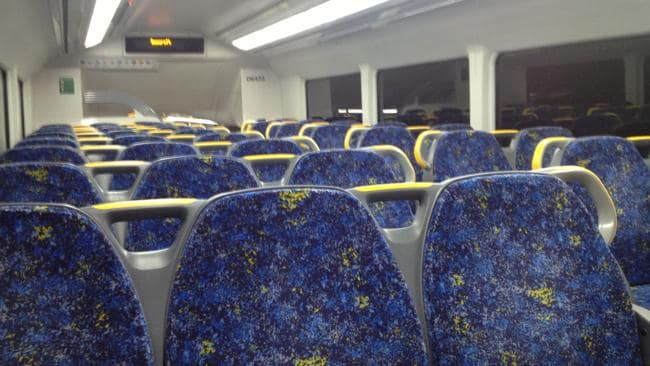 This is what a Sydney train looks like at 5am. Not bad, eh?