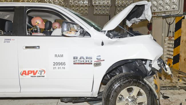 Dodge Ram is the first locally-converted US pick-up to be crash tested in Australia. Picture: Supplied.