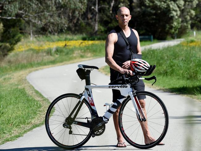 Rob Ferdinands's dream of competing in his first ironman in December has been dashed. Picture: Steve Tanner