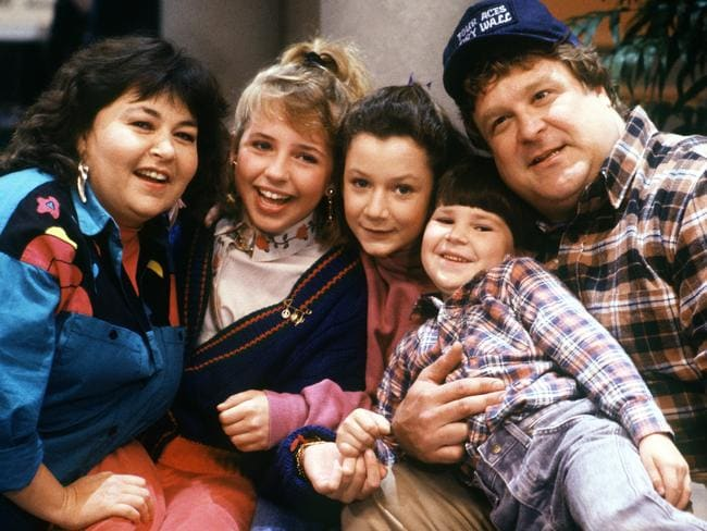 The cast of Roseanne in 1988. Picture: Getty Images