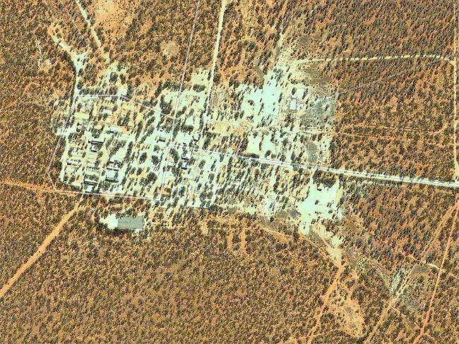 Top Secret sites: Maralinga, SA, site of seven secret British nuclear tests in the 1950s. Picture: Google Earth