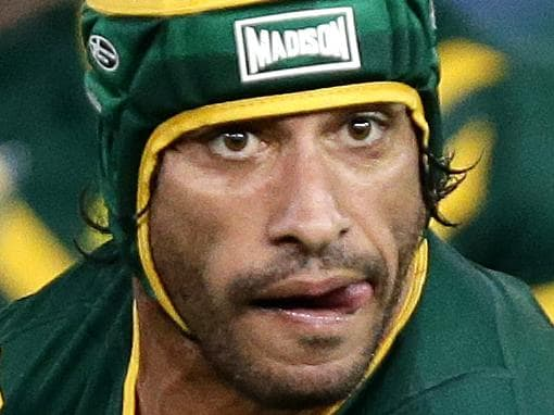 Australia's Johnathan Thurston during the rugby league Test Match between the Australian Kangaroos and the New Zealand Kiwis at Hunter Stadium , Newcastle .Picture : Gregg Porteous