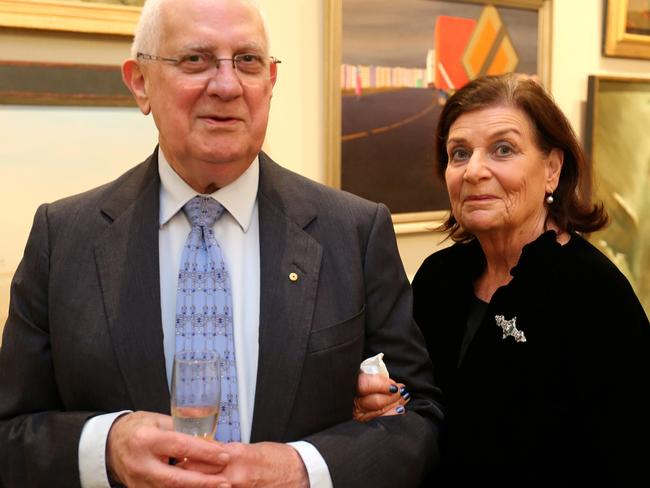 Owner Adrienne Dan (right) of the Rose Bay estate, pictured with husband, eminent neurosurgeon, Dr Noel Dan.
