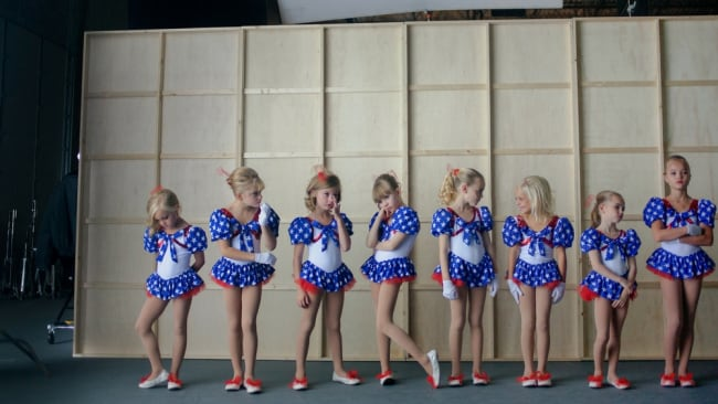 Behind the scenes on 'Casting JonBenet'. Photo: Supplied