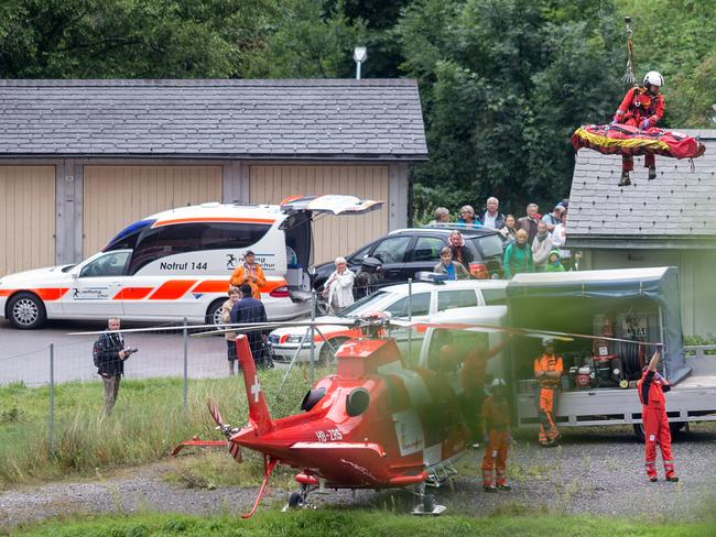 Remote ... the air rescue service was called in because the crash site was not close to a road.