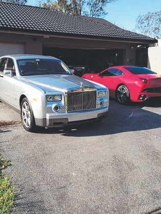 Luxury cars pictured in a Facebook post of Daniel Milos.