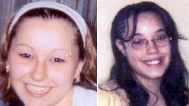 Amanda Berry, left, and Gina DeJesus have been found alive after disappearing in the US city of Cleveland about a decade ago. Picture: AFP