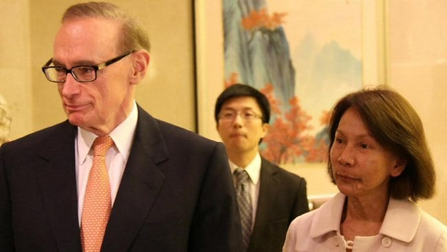 Foreign Minister Bob Carr and his wife, Helena, in Shanghai at start of a five day trip to China.