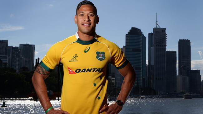 Wallabies star Israel Folau is ready to go in Brisbane.