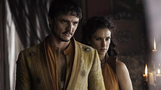 New people! You're looking at Oberyn Martell and Ellaria Sand. (Game of Thrones Season 4 is coming April 7 to Sh...