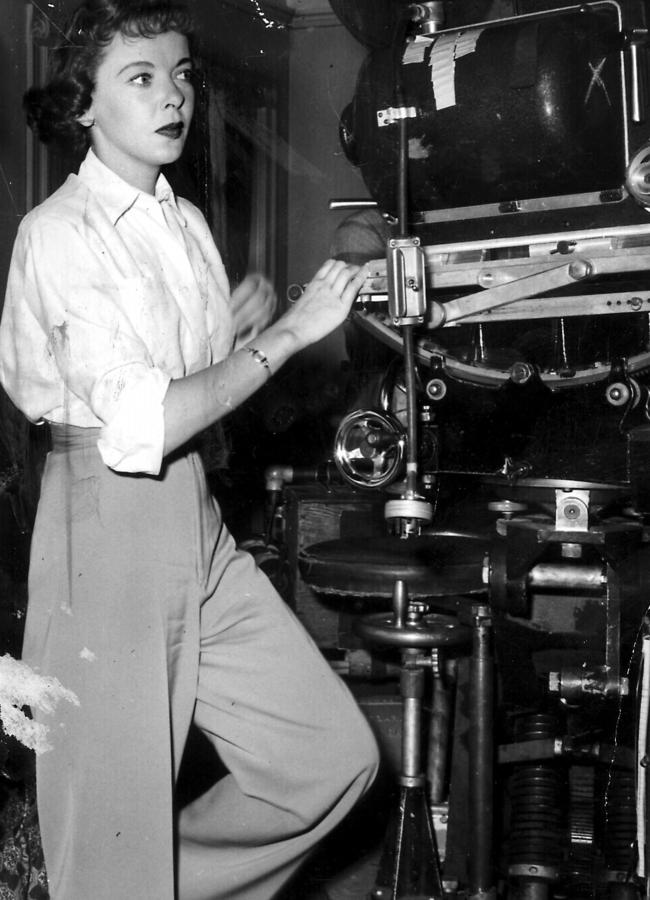 Ida Lupino behind the camera in an undated picture.