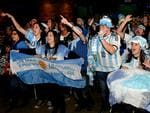 Plenty of hope at La Boca Restaurant in the Adelaide Stamford Plaza as Argentinian supporters cheer for their team. Picture: Noelle Bobrige