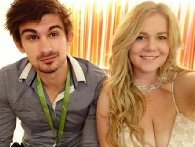 Cassie Sainsbury with fiance Scott Broadbridge. Picture: Facebook