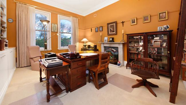 The study provides a tranquil retreat for working from home.