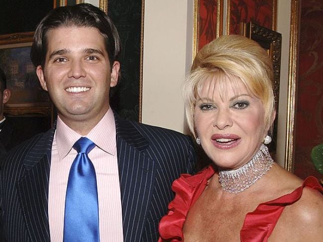 Donald Trump, Jr. and his mother Ivana Trump in 2007. Photo: Andrew H. Walker/Getty Images
