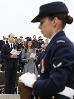 Prince William, Duke of Cambridge and Catherine, the Duchess of Cambridge during an ANZAC Day commemorative service at the Australian War Memorial. Picture: Getty