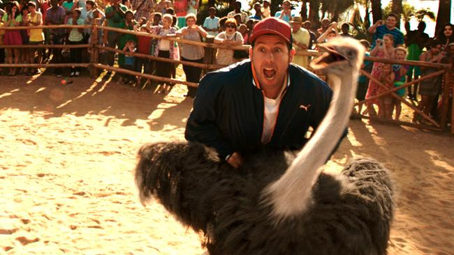 ... and neither is this. Adam Sandler in a scene from his new film, Blended.