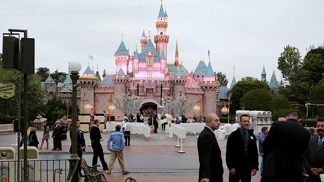 Security was tight at Disneyland for Mariah Carey and Nick Cannon to have their moment. Picture: Splash News