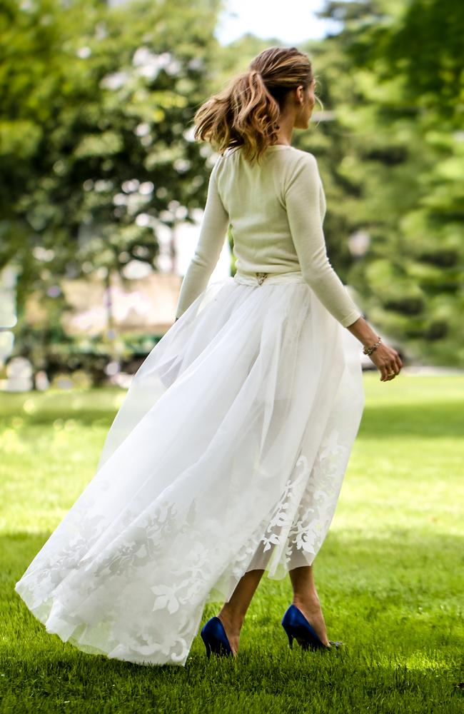 The back of Olivia Palermo's 'dress'. Picture: oliviapalermo.com