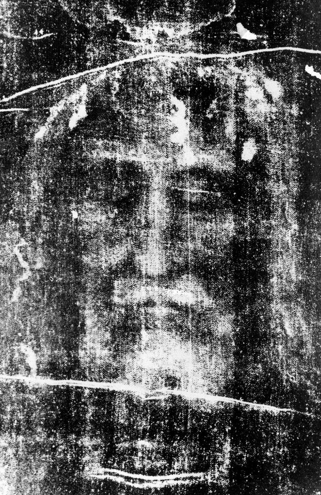 The Shroud of Turin in a 1997 photo.